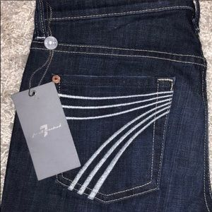 7 for all mankind dojo flare jeans size 25 NWOT